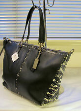 NWT Coach 27984 Bleecker Copper Black and Python Embossed Satchel msrp $398