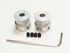 2 Aluminum Timing Pulleys  Reprap Prusa Mendel 3D Printer Bore 6.35mm 2GT GT2