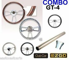 EZGO TXT Golf Cart Billet GT-4 Steering Wheel Combo Set