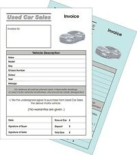 2 x Used Car Sale invoice Duplicate NCR Pads