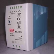 90W Single Output 12V Industrial DIN Rail Power Supply MDR-100- 12V