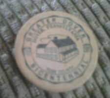 WOODEN NICKEL GREATER DOVER BICENTENNIAL DOVER PA. 1964