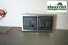 CBE 12v Battery Condition Tester & Double 12v Light Switch for Motorhome/Caravan