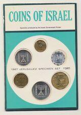6 COINS OF ISRAEL 1967 JERUSALEM SPECIMEN SET