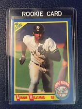 1990 Score #619  Bernie Williams RC Yankees  Factory Set Break MINT