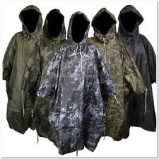 US Army Waterproof RipStop Hooded Rain Military Poncho Camping Hiking - New