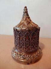 Encrier ancien bronze style gothique France début XIX 19 siecle