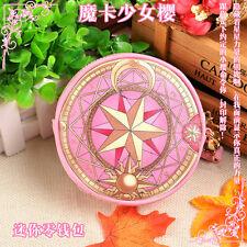 Anime Card Captor Sakura Cosplay The Clow Long Zip Wallet Purse Coin Bag Pink