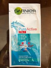Garnier Skin Naturals Pure Active 3 In 1 Wash Scrub Mask Triple Action 4ml
