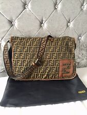FENDI Monogram Zucca Pattern Messenger/Crossbody Bag