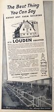 1946 AD(XB13)~LOUDEN MACHINERY CO. FAIRFIELD, IOWA. LOUDEN EQUIPPED BARNS