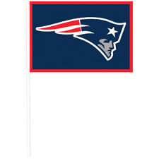 NFL New England Patriots PLASTIC FLAGS (12) ~ Birthday Party Supplies Favors