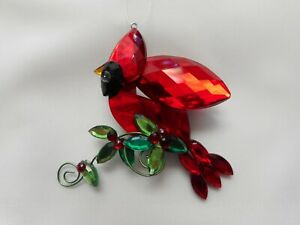 NEW 3-D Acrylic Hanging Cardinal from Crystal Expressions by Ganz
