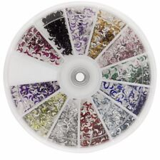 Premium MASH 1200 Piece 12 Color Nail Art 3D Design Moon Shape Rhinestones