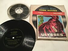 "KIRK DOUGLAS "" ULYSSES "" CINE FILM SUPER 8MM 200FT REEL + HIFI RECORD"