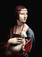 Oil painting young girl leonardo-da-vinci-portrait-of-cecilia-gallerani canvas