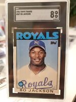 1986 Bo Jackson Topps Traded #50T Rookie Card  SGC 8 NM/MINT RC