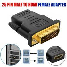 Adattatore DVI-D 25pin maschio a HDMI femmina videoconvertitore cavo Connettore