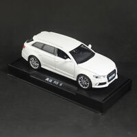 1:32 Audi RS6 Quattro Model Car Diecast Toy Vehicle Sound Light Pull Back White