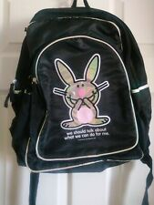 "Jim Benton Happy Bunny Backpack ""We Should Talk About What We Can Do For Me."""