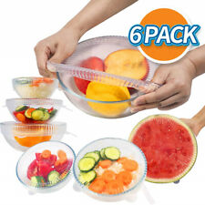6-pack Silicone Stretch Lids-Reusable Food Container Covers-Silicone Food Hugger