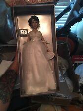 Franklin Mint Elizabeth Taylor Vinyl Portrait Doll In White Tulle Gown New