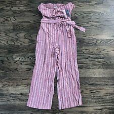 Abercrombie & Fitch Pink Ruffle Jumpsuit Sleeveless JUMPER Size Medium NWT