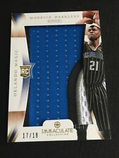 2012-13 Immaculate Collection Numbers Maurice Harkless Jumbo Patch RC Rookie /18