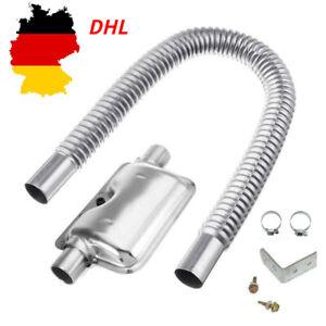 Abgasschlauch Edelstahl Abgasrohr 24mm Abgasschalldämpfer für Standheizung 60cm