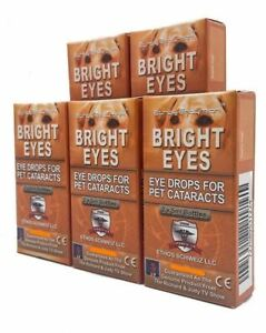Ethos Bright Eyes for Dogs & Pet Eye Cataract Drops Five Boxes 50ml