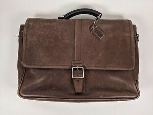 COACH Leather Briefcase Business Work Laptop Messenger Shoulder Bag Vintage