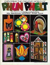 Exploring the Creative World of Phun Phelt Felt Art Projects Kids VTG Craft Book