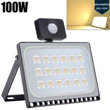 100W 240V Sensor LED Flood Light Warm White Outdoor Garden FloodLight Park