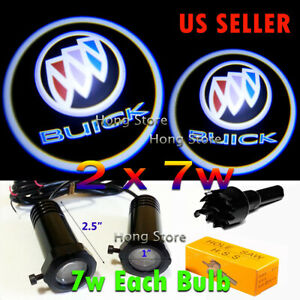 2x7w BUICK Ghost Shadow Projector Laser Logo LED Courtesy Door Step Lights