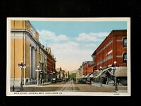 c1920's Main Street Looking West, Lock Haven, Pa. Vintage Postcard