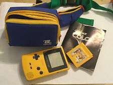 NINTENDO GAME BOY COLOR GBC NGBC CONSOLE +POKEMON YELLOW VERSION GAME CART +BAG