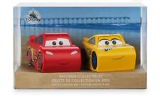 Disney CARS 3 Lightning McQueen And Cruz Ramirez Wooden Collectible Limited Ed