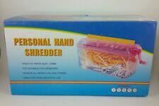 Personal hand shredder blue