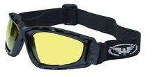 Global Vision Trip SM Padded Riding Goggles Amber-Yellow Tinted Lens