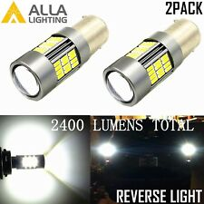 Alla Lighting 2x 1156 54-LED Back Up Reverse Turn Signal Blinker DRL Light Bulbs