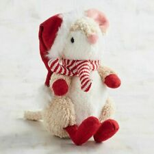 Pier 1 Imports Plush Mouse Marvin with Scarf Holiday Toy New