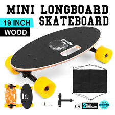 "Mini 19"" Longboard Skateboard Cruiser Deck Durable 330Lbs Complete Stable"