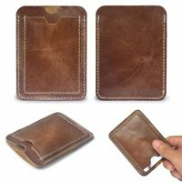 Portable Leather ID Holders Card Holder Wallet Credit Card  Bag Brown