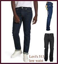 levis 513 jeans levi's da uomo slim fit vita bassa gamba dritta w27 w28 w29 w36