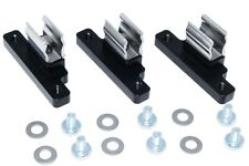 (Set of 3) Steel & Billet Aluminum Geo Tracker Suzuki Sidekick Soft Top Clips BK