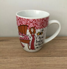 """BORN TO SHOP Porcelain Mug By Johnson Brothers """"Bed & Breakfast Men Cant Make"""""""