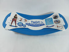 Twist and Shape Exercise Fitness Balance Board Blue Abs Legs