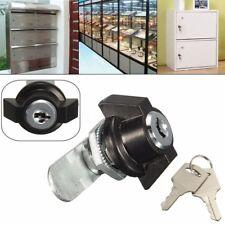 Cam Lock File Cabinet Desk Drawer Locker + 2 Keys for Arcade Cupboard Mailbox