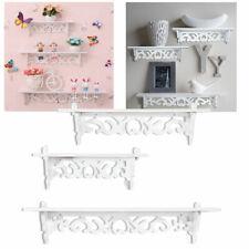 3 PCS Wall Mount Shelf Display Floating Nesting Decorative Storage Shelves White