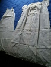 Antique Victorian Christening Gown Off White Lace Hand Made Dress Baby & Slip